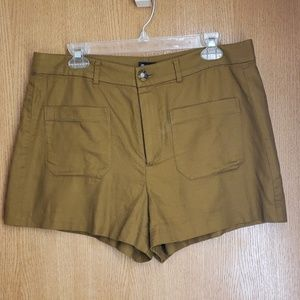 Like New Brown Madewell Cotton and Linen Shorts 12